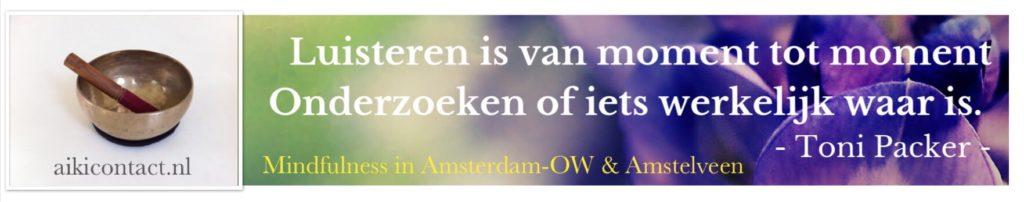 Mindfulness ACT Amsterdam Amstelveen Luisteren Waarheid AikiContact